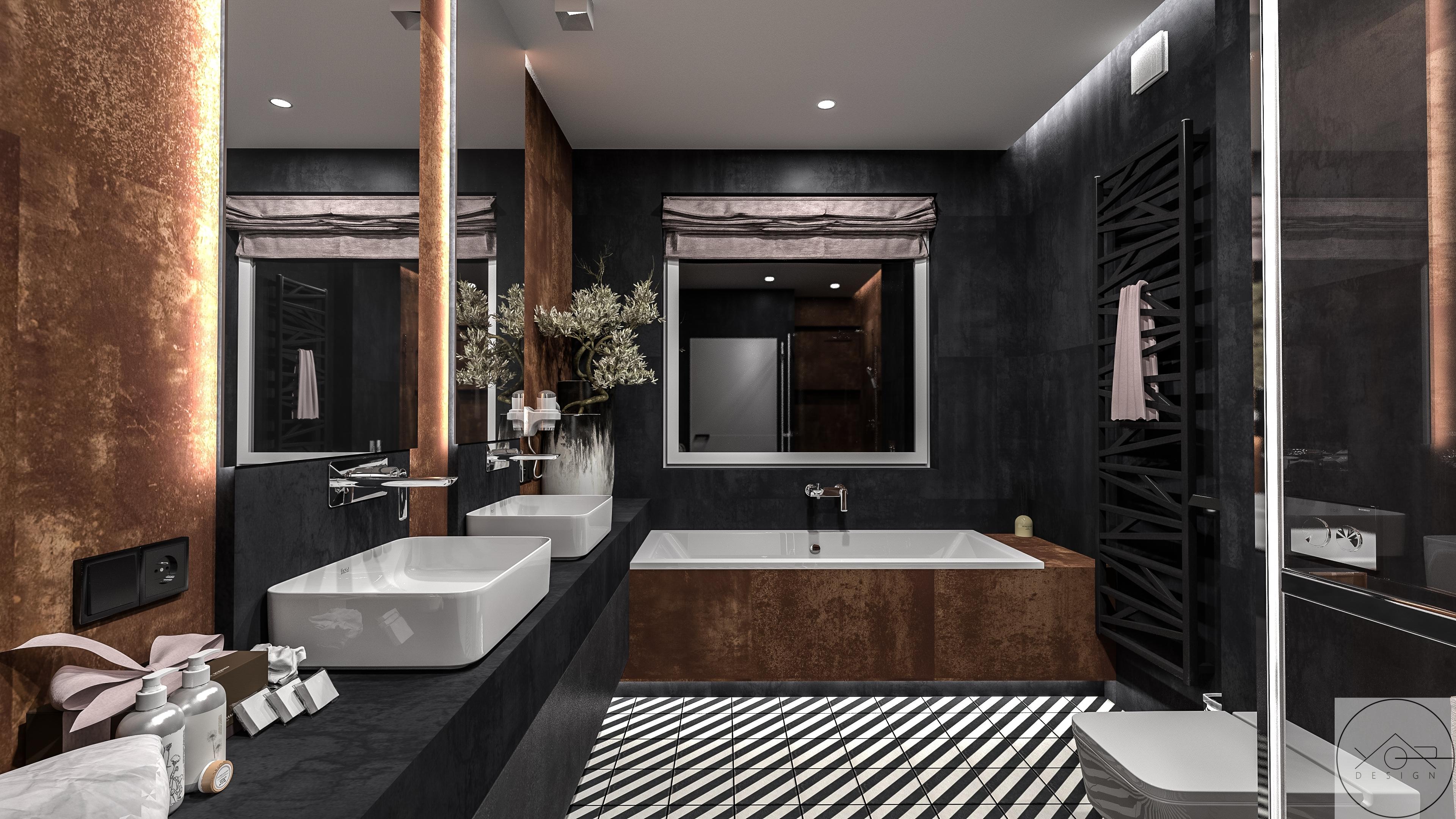 Projekt łazienki Warszawa Marki Yor Designe Biuro